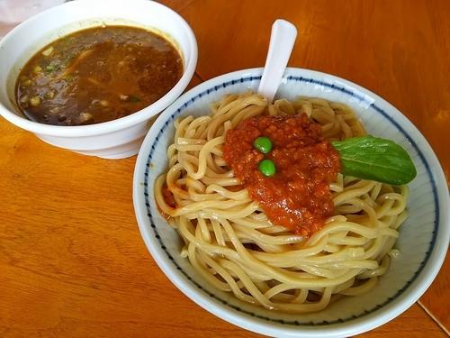 「ミートカレーつけ麺 (大盛り)」@麺奏ハモニカの写真