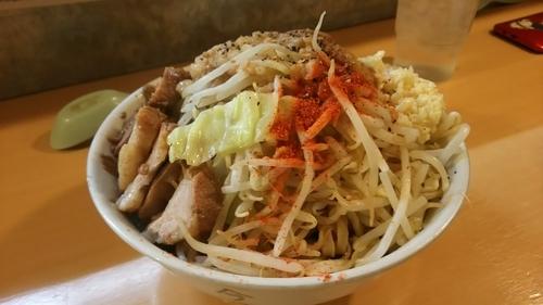 「汁なし(300gニンニク野菜増し)」@ラーメン荘 地球規模で考えろ 伏見本店の写真