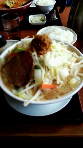 「たまげた山ラーメン」@つけ麺 ゆきむら吉衛門 松戸店の写真