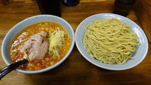 「小つけ麺(880円)+赤(50円)ヤサイ少なめニンニク」@ラーメン二郎 新小金井街道店の写真