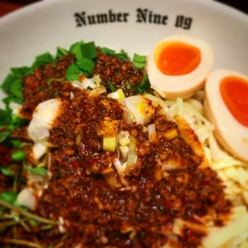 「油そばBlack」@麺Dining Number Nine 09の写真