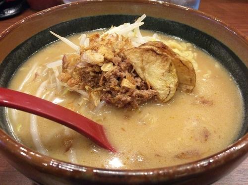 「北海道味噌ラーメン(700円)」@蔵出し味噌 麺場壱歩 入間店の写真