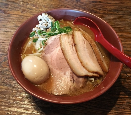 「【3周年限定】オマールエビと甘海老の焼き味噌ラーメン +肉玉」@大公の写真