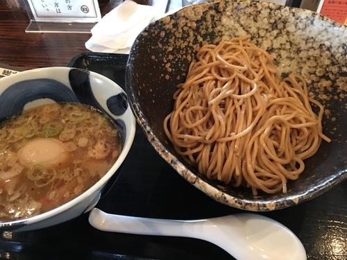 「味玉付きつけ麺」@三ツ矢堂製麺 深谷花園店の写真
