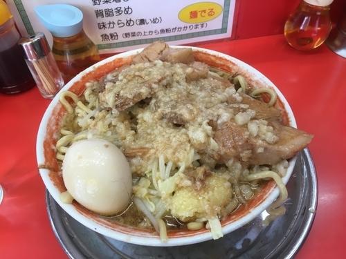 「大豚ラーメン¥850+煮卵¥100」@麺でる 戸越店の写真