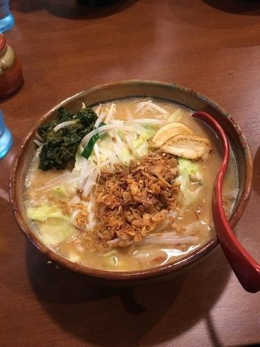 「北海道味噌野菜ラーメン」@蔵出し味噌 麺場壱歩 入間店の写真