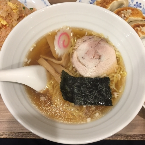 「東京醤油ラーメン(Cセット)」@開楽の写真