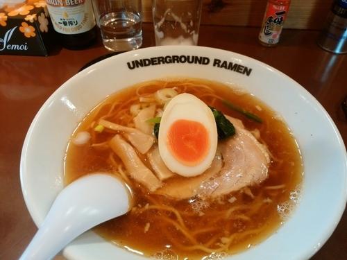 「ラーメン+ビール」@UNDER GROUND RAMENの写真