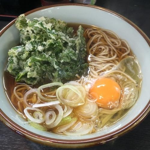 「春菊(¥380)+生卵(サービス)」@文殊 両国駅前店の写真