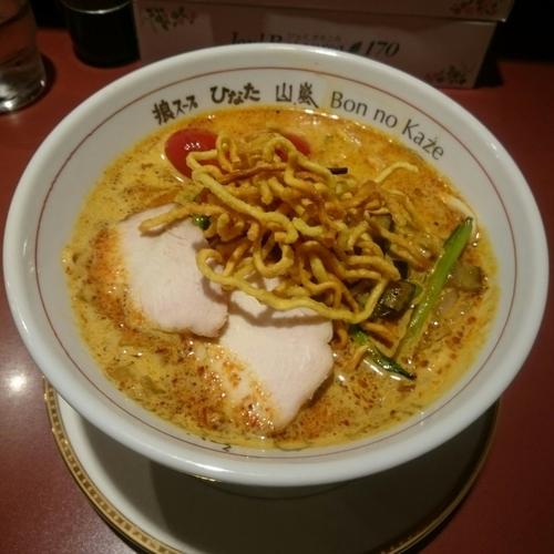 「手打ちトムヤムカレー麺 @900円 中央・南アクション限定」@味噌らーめん専門店 狼スープの写真