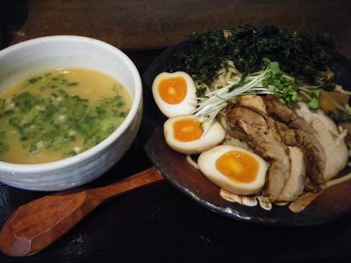 「岩のり塩つけ麺(並)860円+味玉80円」@竹風 那須塩原店の写真