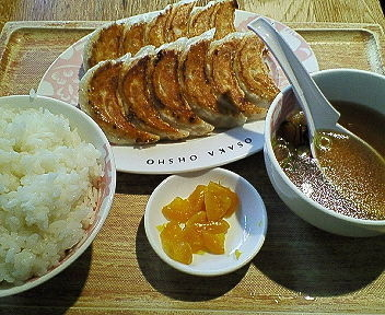 「焼餃子定食 790円」@大阪王将 品川店の写真