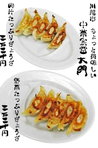 「野菜たっぷりと肉汁たっぷり餃子 どちらも220円」@ちょっと美味しい中華食堂 大門の写真