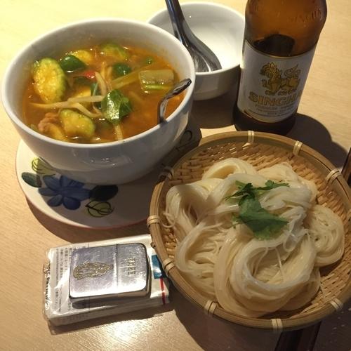 「ゲーンパー+カノムチン」@タイ田舎料理 クンヤーの写真