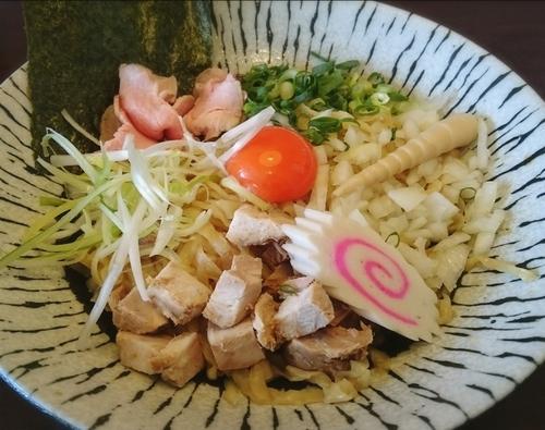 「濃厚卵と比内地鶏のまぜそば 780円」@麺匠えにしの写真