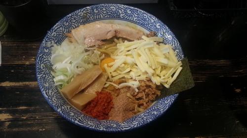 「カレーまぜそば+チーズのトッピング」@狼煙 〜NOROSHI〜の写真