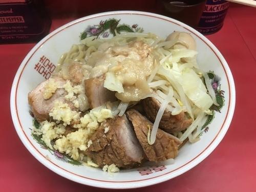 「汁なし大¥750+煮卵¥100+豚増し¥100」@ラーメン二郎 環七一之江店の写真
