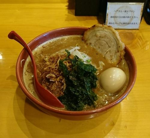 「伊勢味噌らーめん + 炙りチャー + 煮玉子」@麺場田所商店 春日部店の写真