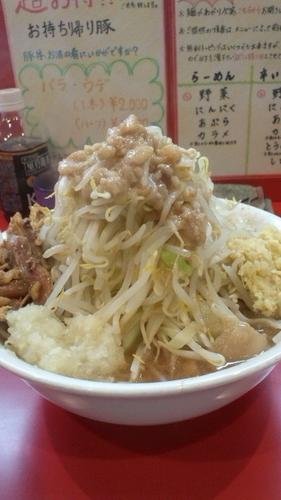 「小ラーメン とろ~り玉子+たまねぎ+しょうが+鶏ほぐし」@麺屋 桐龍の写真