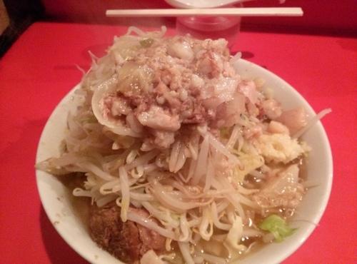 「小ラーメン  野菜ニンニク脂カラメ」@ラーメン二郎 府中店の写真