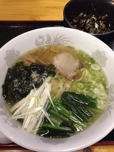 「和風らーめん + ちゃーしゅー丼(小)」@手打中華 富士屋の写真