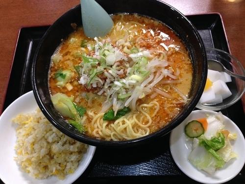 「担担麺定食」@中華料理 竹香園の写真
