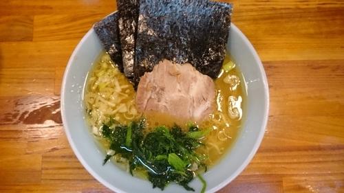 「ラーメン¥650  ライスサービス」@横浜家系ラーメン 家家家の写真