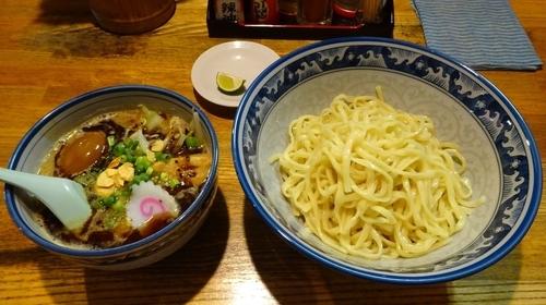 「熊つけ麺(850円)+味付玉子(100円)」@麺や 樽座 小宮店の写真