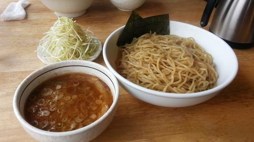 「つけめん+ネギ+麺追加」@つけめん 美豚 あきる野店の写真