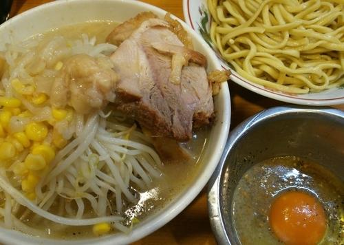「[梅雨限定]なみのりつけ麺+脂たまご 880+100円」@ラーメン二郎 八王子野猿街道店2の写真
