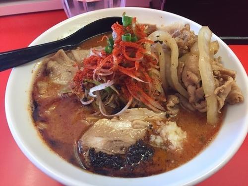 「辛口ガチ味噌肉そば」@辛口肉ソバ ひるドラ 日本橋店の写真