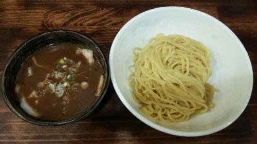 「味玉豚骨魚介つけ麺」@麺工房 武の写真