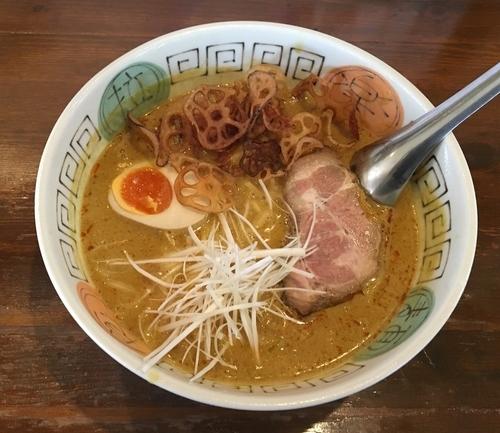 「カレーヌードル 辛味あり中太麺」@火門拉麺の写真
