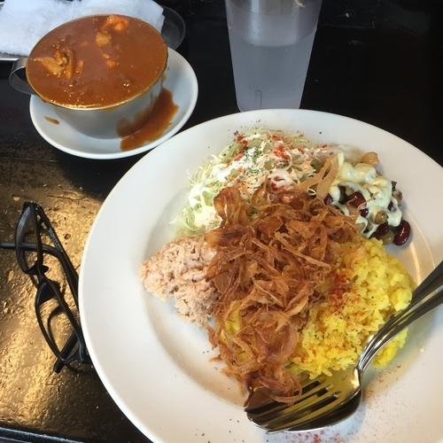 「赤い鶏カレー(小盛)⑦⑨⑩」@カレーは飲み物。の写真