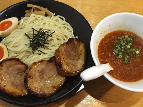 「辛いとんこつつけ麺+トッピング増量:750+200円」@SOUPNUTSの写真