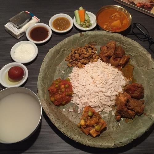 「ネワリボジセット」@ネパール民族料理 アーガンの写真