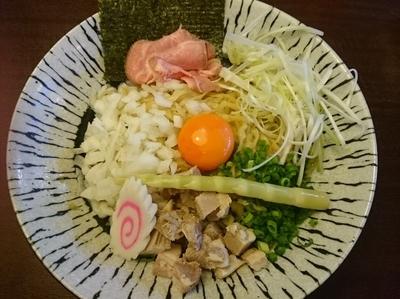 「濃厚玉子と比内地鶏の油そば ¥780」@麺匠えにしの写真