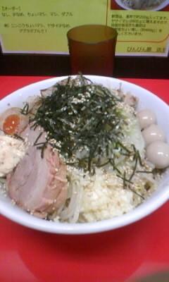 「冷やし中か?中(ニンニク、エビマヨ)850円」@びんびん豚の写真