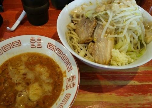 「小つけ麺エビ味 ニンニクアブラ 800円」@ラーメン二郎 会津若松駅前店の写真