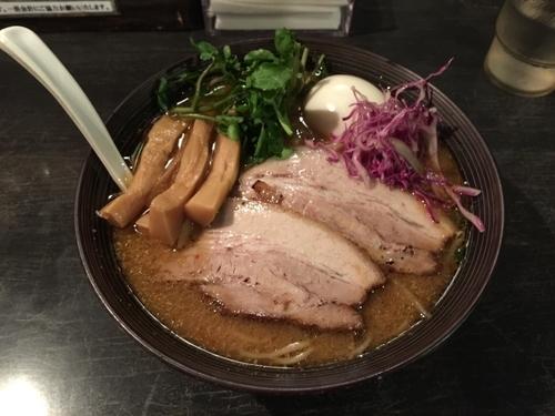「味噌ラーメン+カスタム+大盛」@麺や Bar 渦の写真