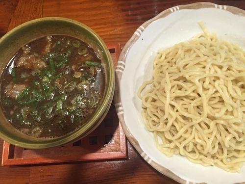 「牛スジつけ麺(並)850円」@麺舎 ヒゲイヌの写真