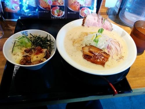 「鶏とろみそば」@麺屋 甚八の写真