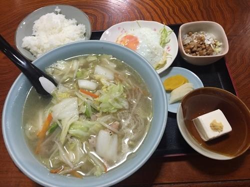「タンメン 650円」@たからや食堂の写真