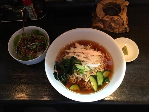 「冷やしラーメン+ミニ丼」@大勝軒の写真