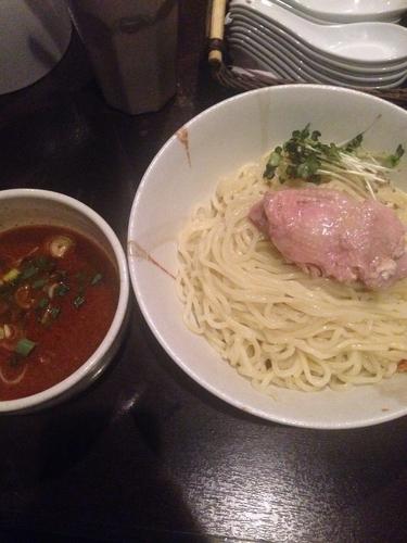 「旨辛鶏エスプレッソつけ麺(中盛り)」@麺屋33の写真