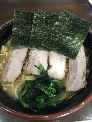 「チャーシュー麺中盛950円硬め濃いめ、キャベチャ100円」@究極汁麺 はねだ家の写真