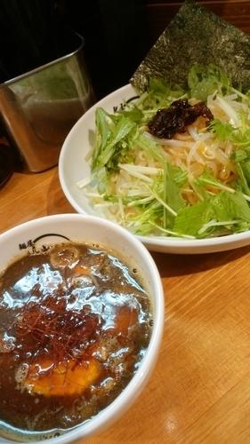 「辛細つけめん」@麺屋 帆のる 西新橋店の写真
