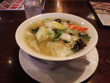「プリプリ海老ラーメン(塩味)(ハーフサイズ)」@暖龍 平岸店の写真