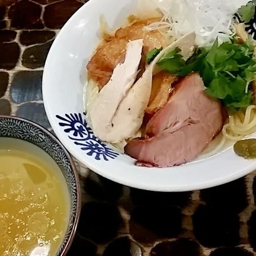 「【限定】柚子塩つけ蕎麦 800円他」@特級鶏蕎麦 龍介の写真