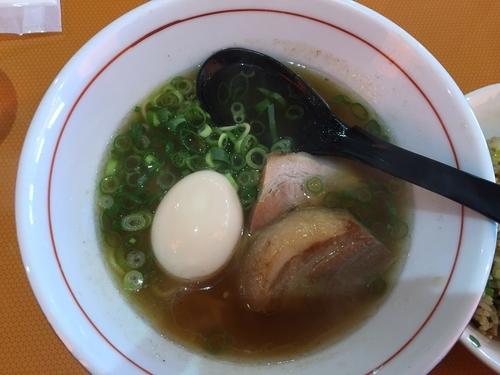「空海ラーメン+焼飯(Bセット)¥650+¥310」@遊食 空海の写真